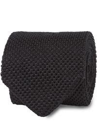 T.M.Lewin Black Knitted Silk Tie