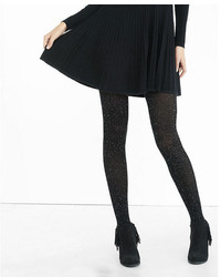 Express Nep Knit Ribbed Full Tights