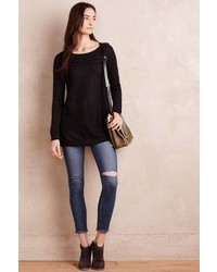 Knitted Knotted Slubbed Swing Tunic