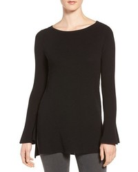 CeCe Ruffled Cuff Rib Knit Tunic
