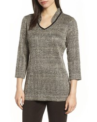 Ming Wang Textured Knit Tunic