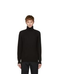 Loro Piana Black Cashmere Turtleneck Sweater