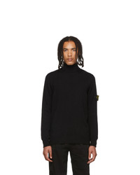 Stone Island Black Knit Turtleneck