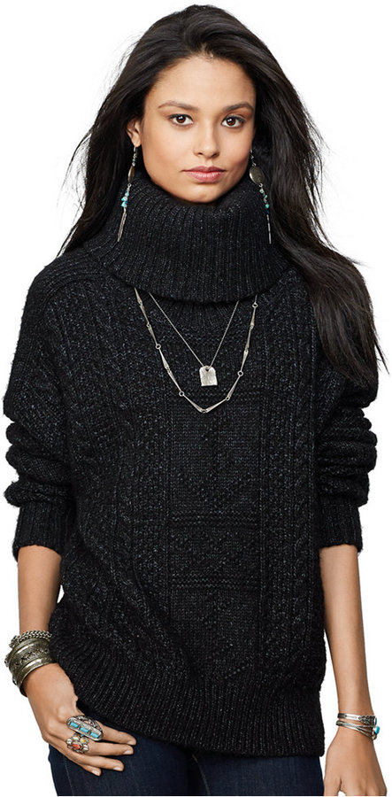 Denim & Supply Ralph Lauren Cable Knit Turtleneck Sweater | Where ...