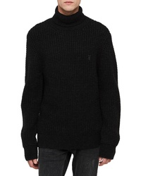 AllSaints Mast Slim Fit Funnel Neck Sweater