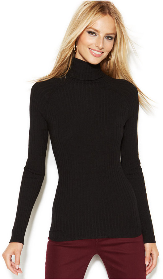 INC International Concepts Ribbed Knit Turtleneck Sweater | Where ...
