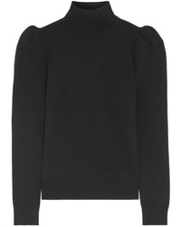 Stretch knit turtleneck sweater black medium 4393827
