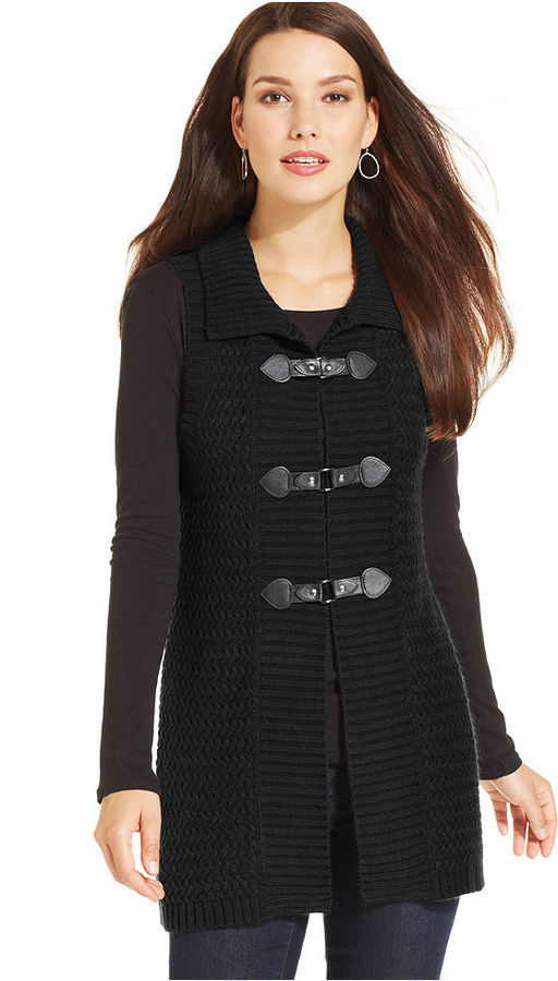 Style&co. Buckle Cable Knit Sweater Vest | Where to buy & how to wear