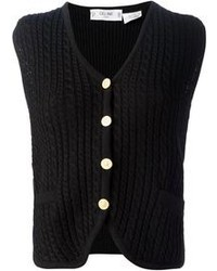 Celine Cline Vintage Cable Knit Gilet