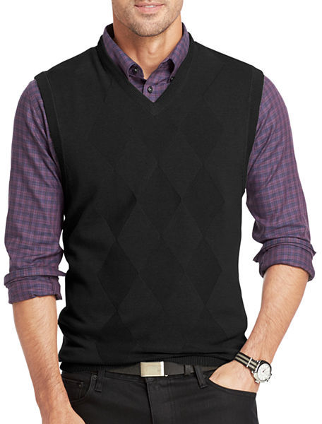 Van Heusen Argyle Sweater Vest | Where to buy & how to wear