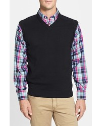 Cutter & Buck Big Tall Broadview V Neck Sweater Vest