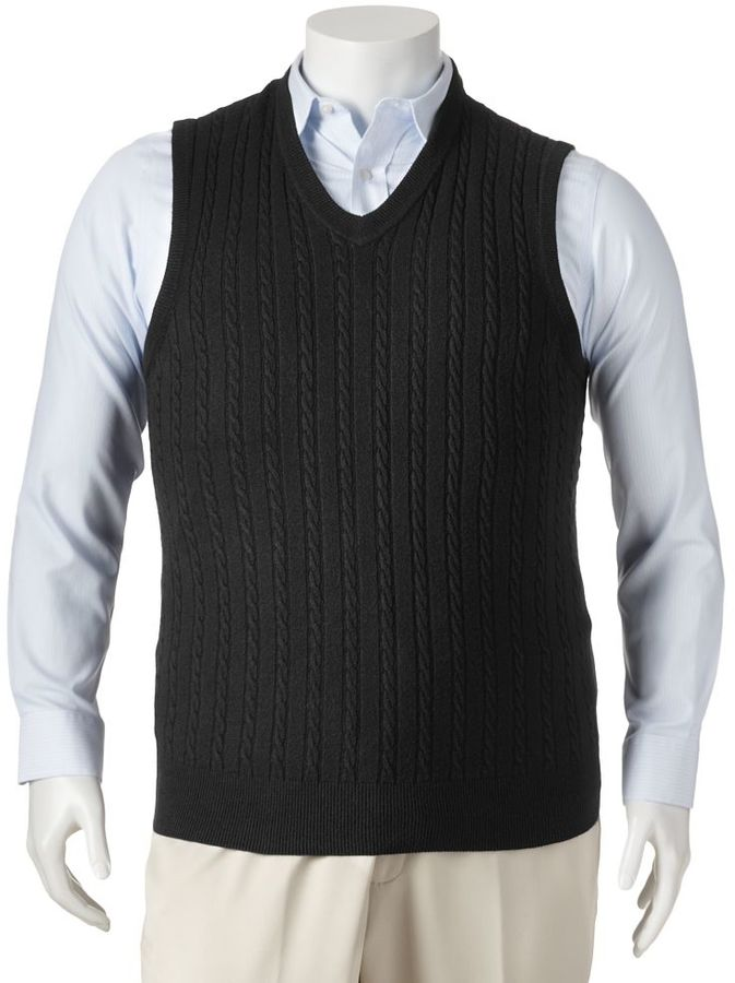 Dockers Cable Knit Sweater Vest Big Tall | Where to buy & how to wear