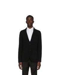 Z Zegna Black Knit Blazer