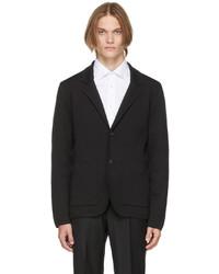 Z Zegna Black Recycled Wool Blazer