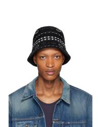 Alanui Black Jacquard Bucket Hat