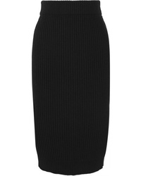 Marc Jacobs Ribbed Wool And Cashmere Blend Midi Skirt