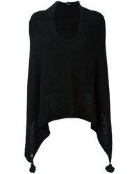 Twin-Set Tassel Detail Knitted Poncho