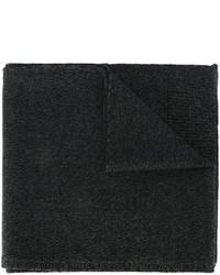 Black Knit Wool Scarf