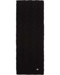 Versace Black Cable Knit Scarf