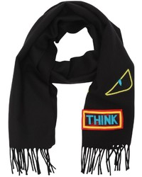 Fendi Words Monster Wool Knit Scarf