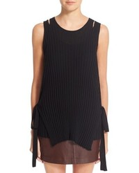 Helmut Lang Side Tie Knit Wool Tank