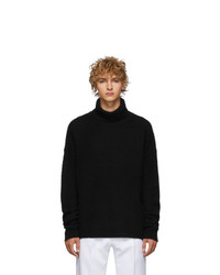 Acne Studios Black Cashmere And Wool Oversized Nyran Turtleneck