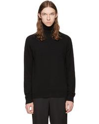 Black merino knit turtleneck medium 4391711