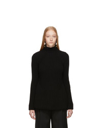 Givenchy Black Wool And Cashmere Long Structure Turtleneck