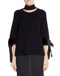 Fendi Cashmere Genuine Mink Fur Sweater