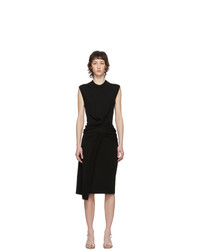 McQ Alexander McQueen Black Tomiko Knit Twist Dress