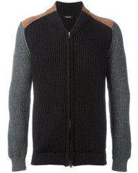 Roberto Collina Cable Knit Zipped Up Cardigan