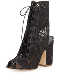 Laurence Dacade Nelly Lace Lace Up Bootie Black