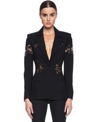 Altuzarra Acacia Viscose Blend Lace Blazer In Black