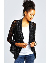 Boohoo Nina Lace Waterfall Blazer