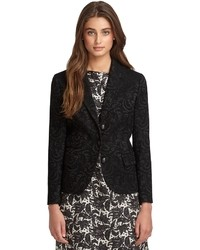 Brooks Brothers Lace Jacquard Three Button Jacket