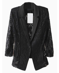 Choies Black Lace Slim Blazer