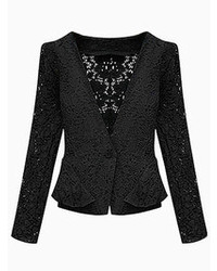 Choies Black Silm Lace Blazer