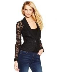 INC International Concepts Illusion Lace Tuxedo Blazer