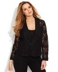 INC International Concepts Plus Size Lace Blazer