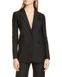 Valentino Lace Shoulder Blazer