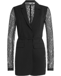 McQ by Alexander McQueen Mcq Alexander Mcqueen Blazer With Lace Sleeves