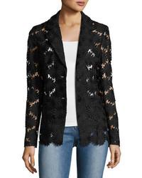 Semisheer daisy lace blazer petite medium 3750242