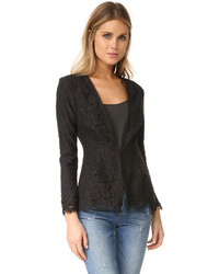 Cupcakes And Cashmere Tess Fitted Lace Blazer
