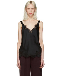 Helmut Lang Black Lace Slip Top
