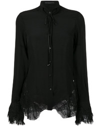 Ermanno Scervino Lace And Bow Blouse