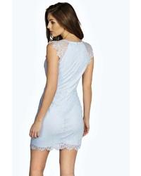4327915233c ... Boohoo Jen All Over Eyelash Lace Bodycon Dress