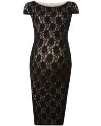 Maternity black lace bodycon dress medium 911396