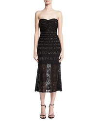 Pailey strapless lace bandage midi dress medium 4948817