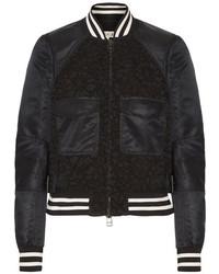 Jones shell and corded lace bomber jacket black medium 5083579