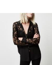 63c440664 Women's Black Lace Jackets by River Island | Women's Fashion ...